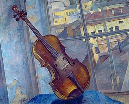 Violin, 1918 by Kuzma Petrov-Vodkin | Painting Reproduction
