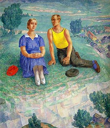 Spring, 1935 by Kuzma Petrov-Vodkin | Painting Reproduction