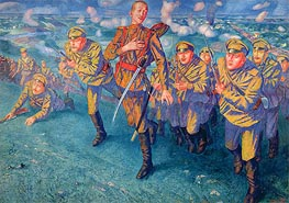 In the Firing Line, 1916 by Kuzma Petrov-Vodkin | Painting Reproduction