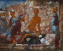 Samarkand Scene, 1921 by Kuzma Petrov-Vodkin | Painting Reproduction