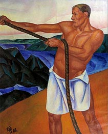 The Worker | Kuzma Petrov-Vodkin | Painting Reproduction