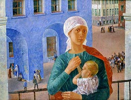 1918 in Petrograd | Kuzma Petrov-Vodkin | Painting Reproduction
