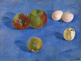 Still Life, Apples and Eggs, 1921 by Kuzma Petrov-Vodkin | Painting Reproduction
