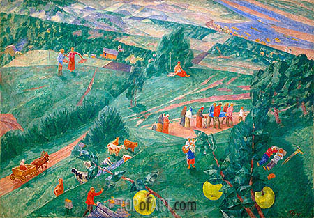 Midday, 1917 | Kuzma Petrov-Vodkin | Painting Reproduction