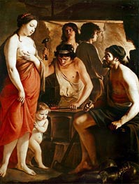 Venus in Vulcan's Forge, 1641 by Le Nain Brothers | Painting Reproduction