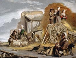 The Haycart, 1641 by Le Nain Brothers | Painting Reproduction