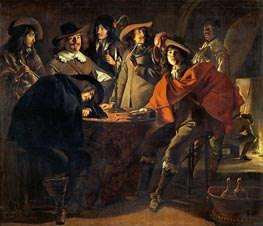 Company of Smokers (The Guards), 1643 by Le Nain Brothers | Painting Reproduction