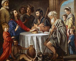 Supper at Emmaus, c.1642 by Le Nain Brothers | Painting Reproduction