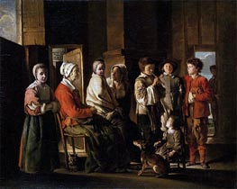 Visit to Grandmother, c.1645/48 by Le Nain Brothers | Painting Reproduction