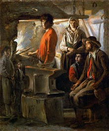 The Forge, c.1625/48 by Le Nain Brothers | Painting Reproduction