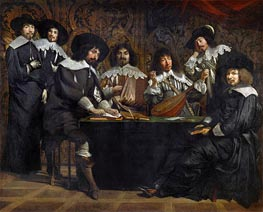 The Academy, c.1640/49 by Le Nain Brothers | Painting Reproduction