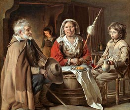A French Interior, c.1645 by Le Nain Brothers | Painting Reproduction
