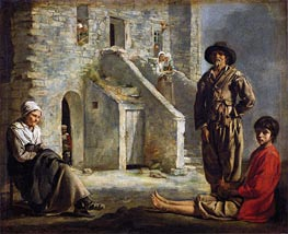 Peasants Before Their House | Le Nain Brothers | Painting Reproduction
