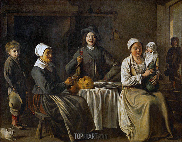 Peasant Family (The Return from the Baptism), 1642   Le Nain Brothers   Painting Reproduction