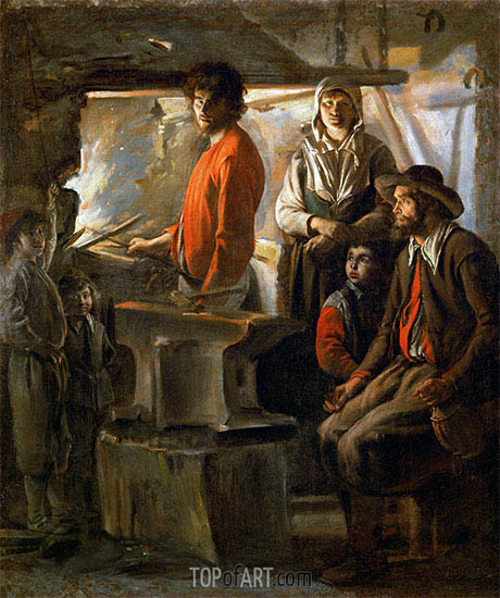 The Forge, c.1625/48 | Le Nain Brothers | Painting Reproduction