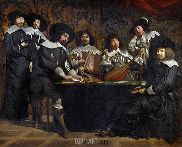 The Academy, c.1640/49 | Le Nain Brothers | Painting Reproduction