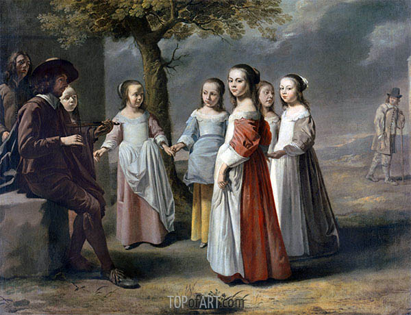 The Dancing Lesson, c.1641 | Le Nain Brothers | Painting Reproduction
