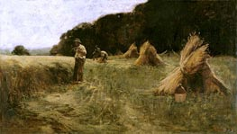 The Harvesters, c.1870/80 by Leon-Augustin Lhermitte | Painting Reproduction