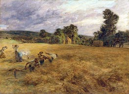 The Storm in Harvest, 1906 by Leon-Augustin Lhermitte | Painting Reproduction