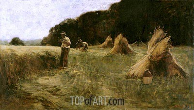 The Harvesters, c.1870/80 | Leon-Augustin Lhermitte | Painting Reproduction