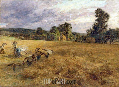 The Storm in Harvest, 1906 | Leon-Augustin Lhermitte | Painting Reproduction