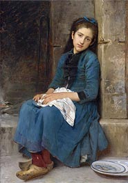 Pensive Girl (Innocence), 1904 by Leon-Jean-Bazille Perrault | Painting Reproduction