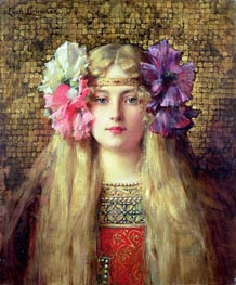The Blonde Woman, undated by Leon Comerre | Painting Reproduction
