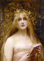 Girl with a Golden Wreath, undated by Leon Comerre | Painting Reproduction