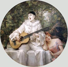 The Serenade | Leon Comerre | Painting Reproduction