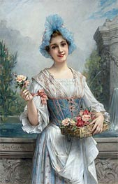 The Flower Seller, Undated by Leon Comerre | Painting Reproduction