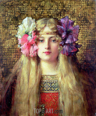 The Blonde Woman, undated | Leon Comerre | Painting Reproduction