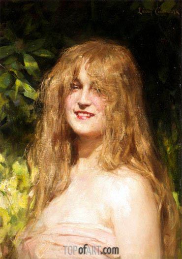 Portrait of a Girl, undated | Leon Comerre | Painting Reproduction