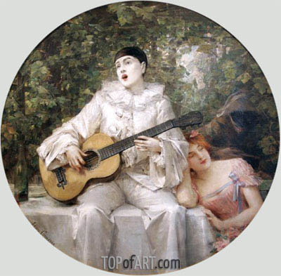 The Serenade, c.1900 | Leon Comerre | Painting Reproduction