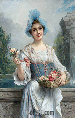 The Flower Seller, Undated | Leon Comerre | Painting Reproduction