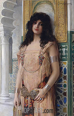 An Eastern Beauty, undated | Leon Comerre | Painting Reproduction