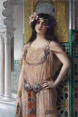 A Bejeweled Harem Beauty, undated | Leon Comerre | Painting Reproduction