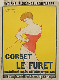 Corset Le Furet, 1901 by Leonetto Cappiello | Painting Reproduction