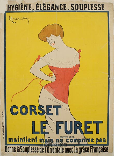 Corset Le Furet, 1901 | Leonetto Cappiello | Painting Reproduction