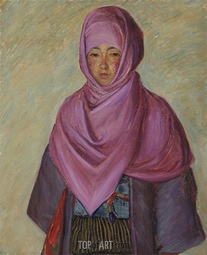The Purple Shawl, undated | Lilla Cabot Perry | Painting Reproduction