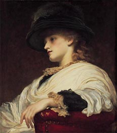 Phoebe, undated by Frederick Leighton | Painting Reproduction