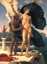 Daedalus and Icarus, c.1869 by Frederick Leighton | Painting Reproduction