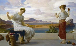 Winding the Skein, c.1878 by Frederick Leighton | Painting Reproduction