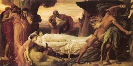 Hercules Wrestling with Death for the Body of Alcestis, c.1869/71 by Frederick Leighton | Painting Reproduction