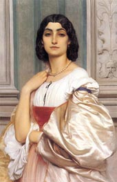 A Roman Lady (La Nanna), c.1858/59 by Frederick Leighton | Painting Reproduction