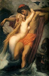 The Fisherman and the Syren, 1857 by Frederick Leighton | Painting Reproduction