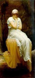 Solitude (Seated) | Frederick Leighton | Painting Reproduction