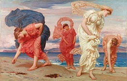Greek Girls Picking up Pebbles by the Sea, 1871 by Frederick Leighton | Painting Reproduction