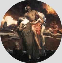 And the Sea Gave Up the Dead Which Were in It, 1892 by Frederick Leighton | Painting Reproduction
