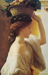 Eucharis - A Girl with a Basket of Fruit, c.1863 by Frederick Leighton | Painting Reproduction