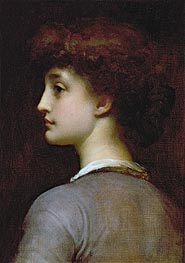 Portrait of a Young Girl, undated by Frederick Leighton | Painting Reproduction